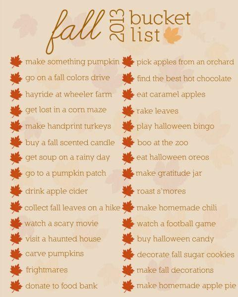 fall bucket list printable - Wheeler Farm Halloween