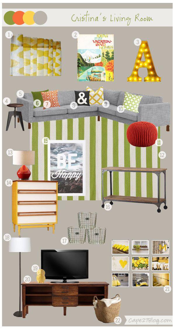 Cape 27 Custom Mood Boards: Cristina's Living Space