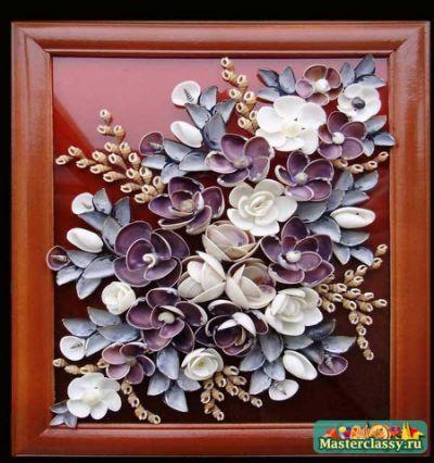 Цветы из ракушек своими руками