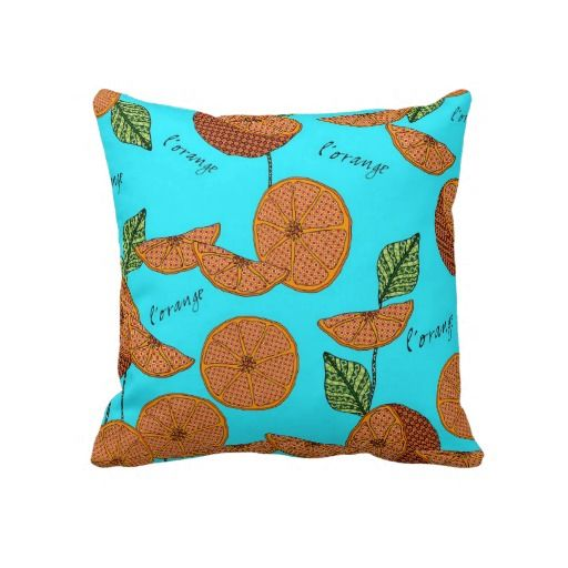 "L'Orange pillow.  Throw Pillow 20"" x 20"" Accent your home with custom pillows. Made of 100% grade A cotton. The perfect complement to your couch, custom pillows will make you the envy of the neighborhood. Sizes 20""x20"" (square) and 13""x21"" (lumbar). 100% grade A woven cotton. Hidden zipper enclosure; synthetic-filled insert included. Machine washable."