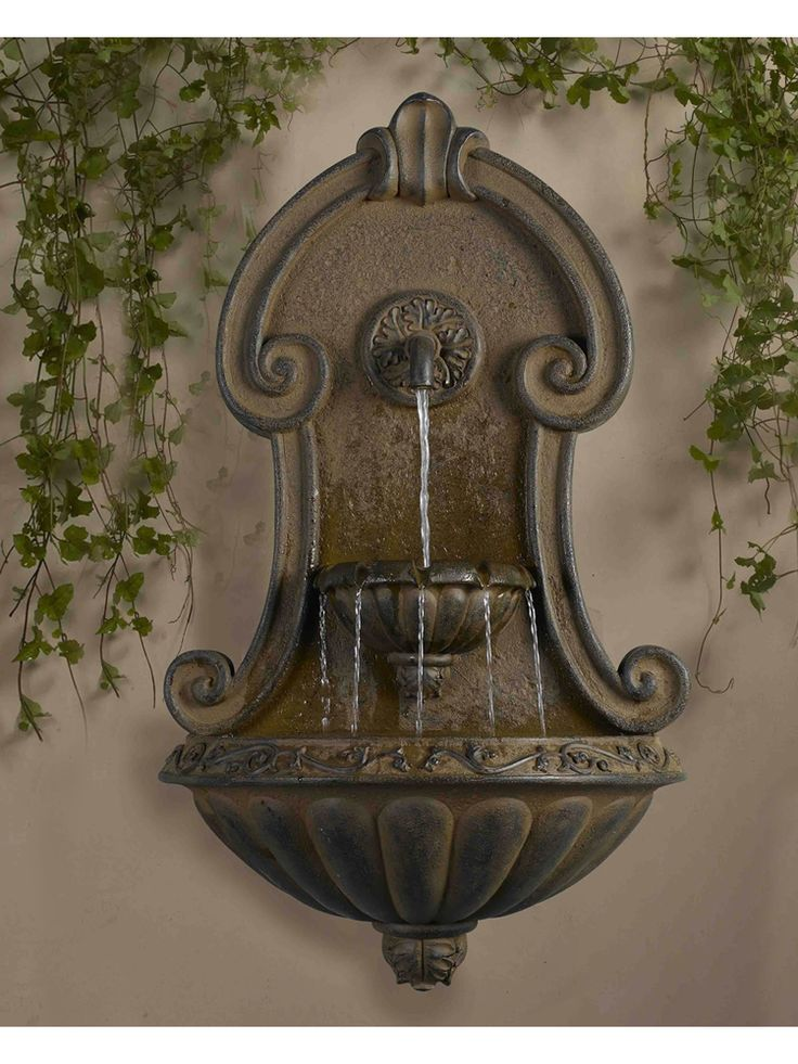 9 best Wall fountains images on Pinterest Garden fountains, Water