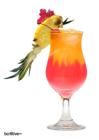 Mai tai, Pineapple slices and Maraschino cherries on Pinterest