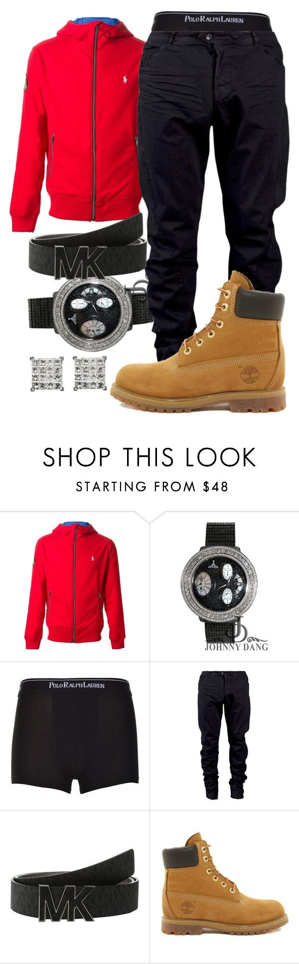 """Tonight Was Coo "" by young-rich-nvgga ❤ liked on Polyvore featuring Polo Ralph Lauren, Julius, MICHAEL Michael Kors, Timberland, men's fashion and menswear"