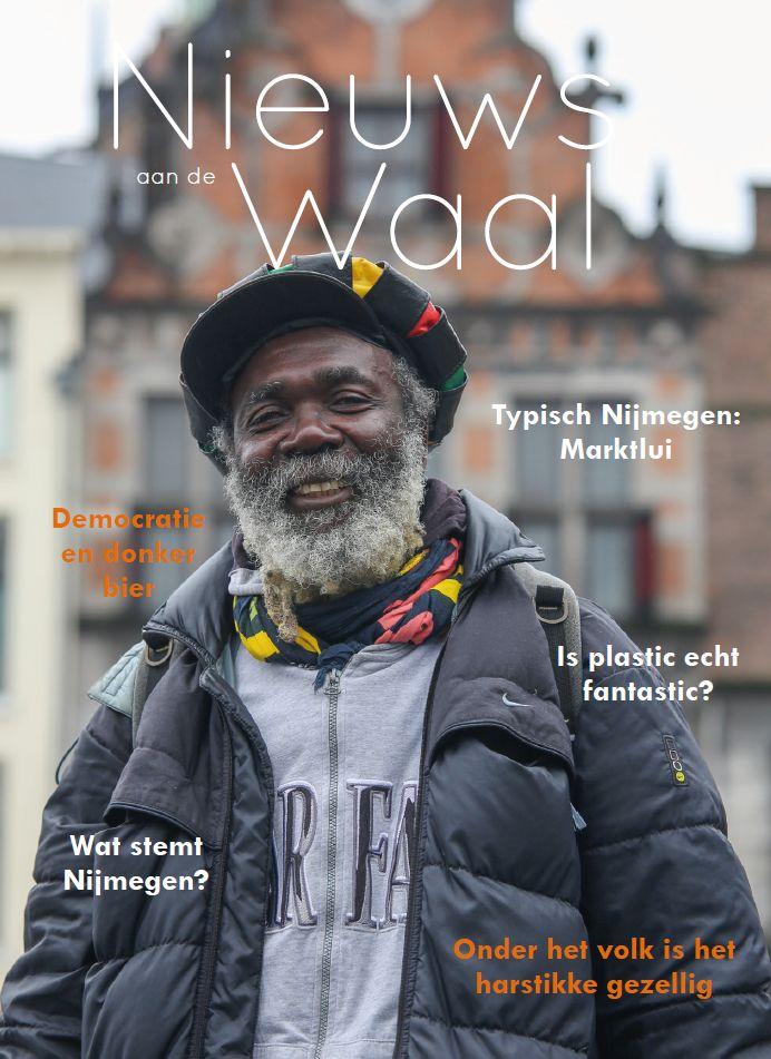 Eerstejaars FHJ-studenten maakten een tijdschrift over een stad voor project Verslag en Verhaal. Nieuws aan de Waal over Nijmegen werd tweede in het studiejaar 2016-2017