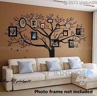 luckkyy® géant photo de famille Arbre mur Home Decor Sticker mural en vinyle Art Stickers Stickers papier peint Branche Sticker mural de décoration de chambre Lit Salon Chambre de bébé