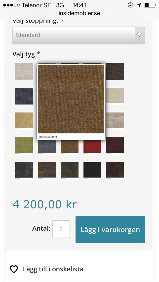 Förslag på tygfärg sammet