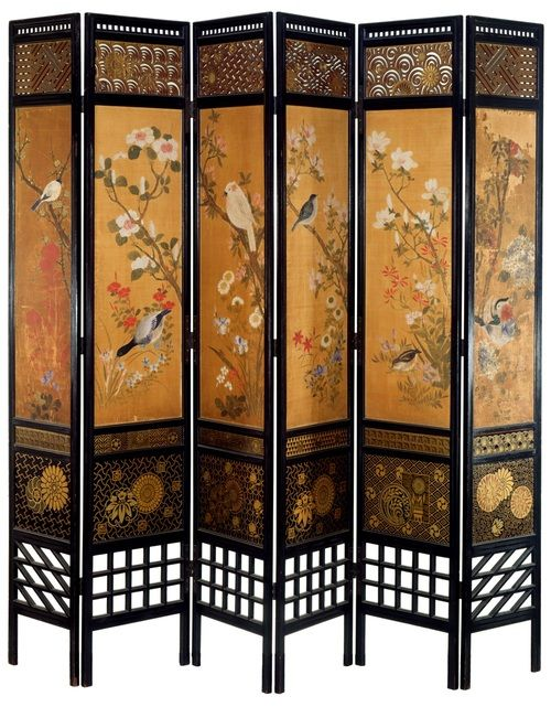 William Eden Nesfield Aesthetic Movement Japanese Screen  c. 19th Century