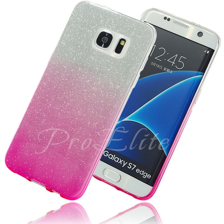 For Galaxy S7 Edge Case Glitter Bling Shinning Soft Tpu Gradient Color Back Silicone Case For Samsung Galaxy S7 A3 A5 J5 J7
