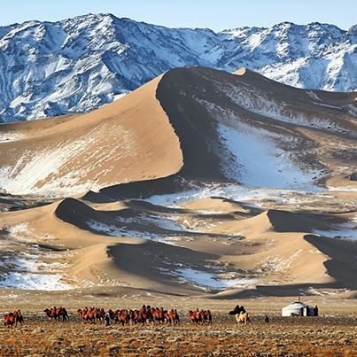 Mongolia winter landscape,