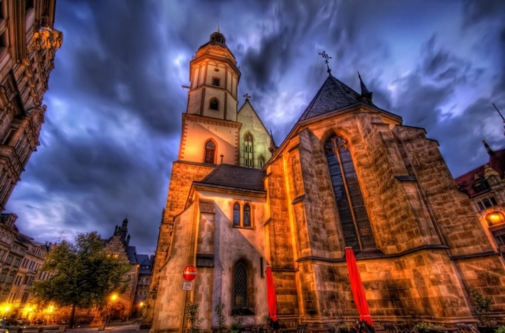 This was shot in Halle, Germany, just a short train ride from Leipzig. A wonderful old church. #treyratcliff at www.StuckInCustom... - all images Creative Commons Noncommercial.