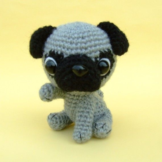 Free Crochet Pattern For Pug Dog : Pug Puppy PDF Crochet Pattern by jaravee on Etsy Crochet ...