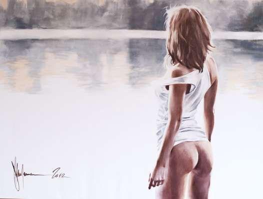 at the lake - 90x120sm / 2012 year  by Igor Shulman #oilpainting #shulman #shulmanart    #contemporaryart #fineart #eroticart