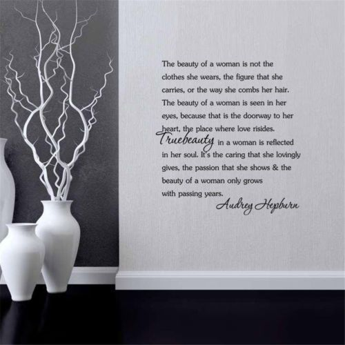 Audrey-Hepburn-Beauty-Of-the-Women-Quote-Wall-Decal-Sticker-Room-Background-New