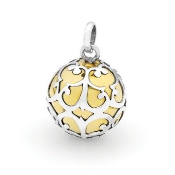 Harmony Ball - SILVER LACE - Bella Donna Sterling Silver and Brass