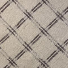 Ivory and Grey Checked - Detail