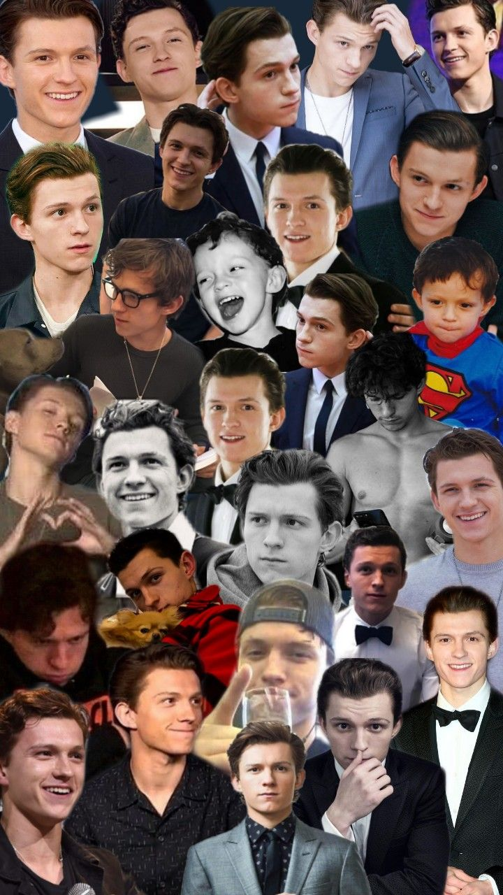 Collage of Tom Holland Tom holland, Holland, Tom holland