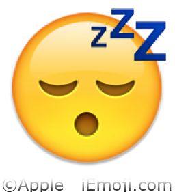 Emoji Faces | Sleeping Face Emoji (U+1F634)