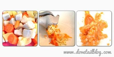 Making baby food quick and easy with a garlic press. Dovetail Blog: No Baby Bullet, No Problem