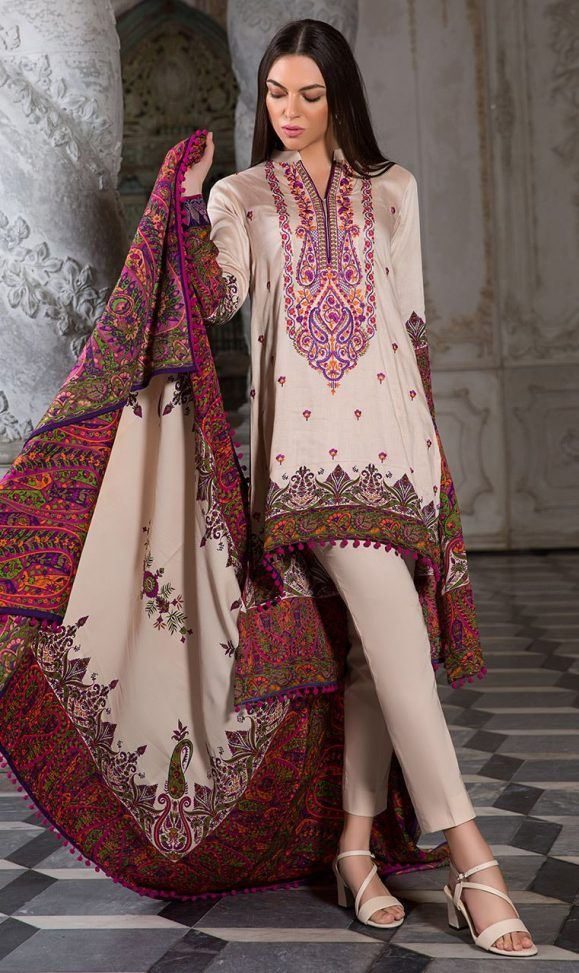 822c30a1489 Orient Latest Winter Dresses 2018-19 by Embroidered Printed Collection |  Winter Dresses | Winter dresses, Pakistani designer suits, Pakistani dresses