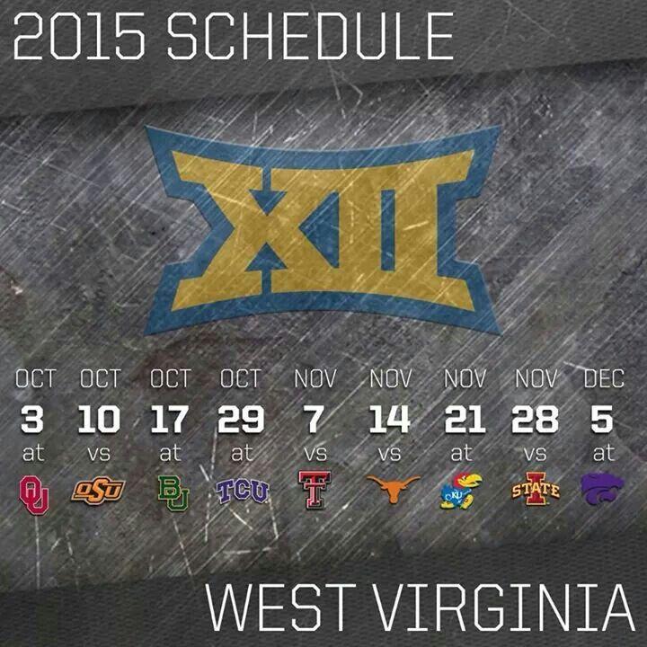 2015 WVU Football Schedule