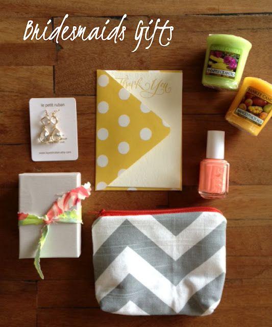 Bridesmaids Gift Idea Chevron Cosmetic Bag Earrings