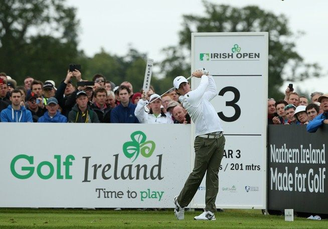 Rory McIlroy on the third hole during the second round of the #IrishOpen at Carton House