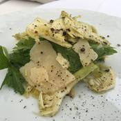 Carpaccio d'artichaut violet et parmesan - une recette Végétal et coloré - Cuisine