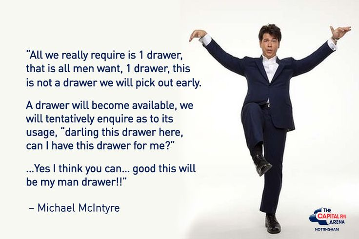 Michael McIntyre Comedy Quotes - Man Draw