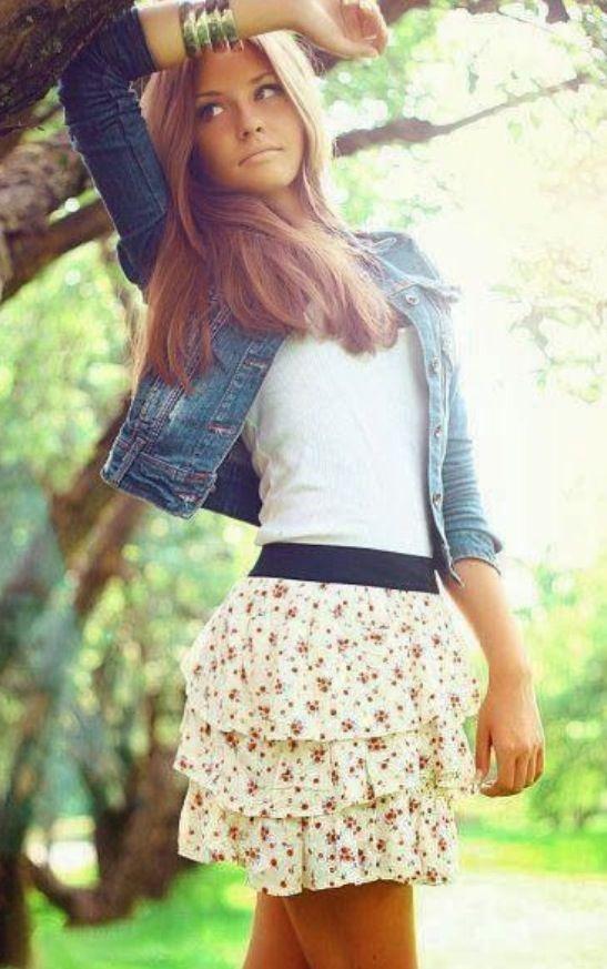 Blusa con falda