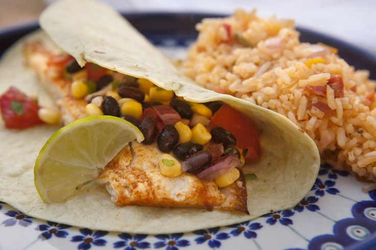 Grilled Fish Tacos with Black Bean and Corn Salsa #SundaySupper Small ...
