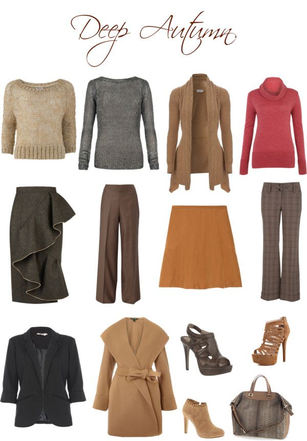 Deep Autumn Soft colors - These would probably work for the darker haired soft autumns out there (or soft autumn deeps)