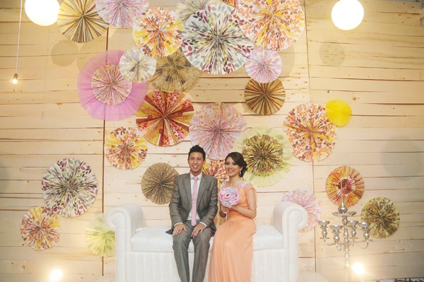 creative pelamin - bride and groom