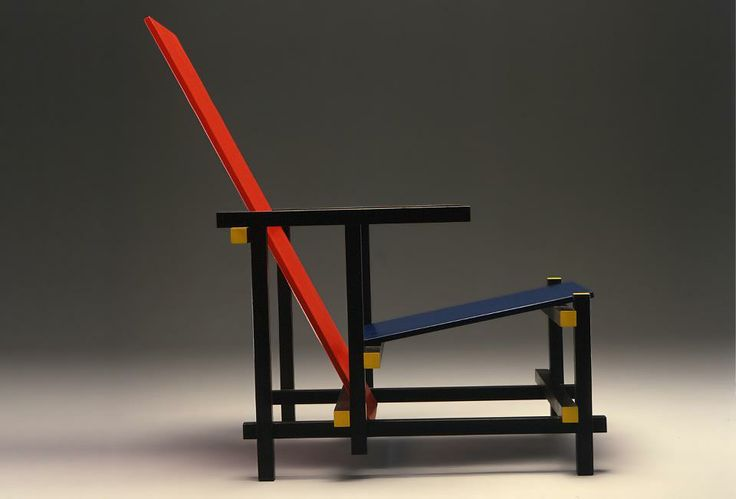 "Gerrit Thomas Rietveld ""Red and blue"" by Cassina"