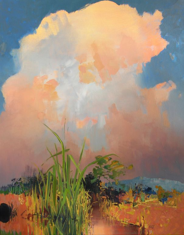"Randall David Tipton; Oil, Painting ""Wetlands Somewhere"""
