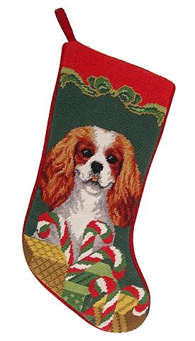 Cavalier King Charles Spaniel Dog Christmas Stocking – For the Love Of Dogs - Shopping for a Cause