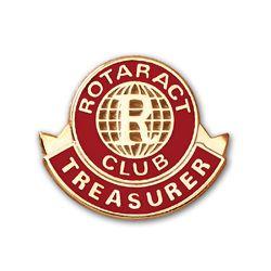 Russell-Hampton Co. Rotary Club Supplies: Gold Plated Rotaract Treasurer Lapel Pin