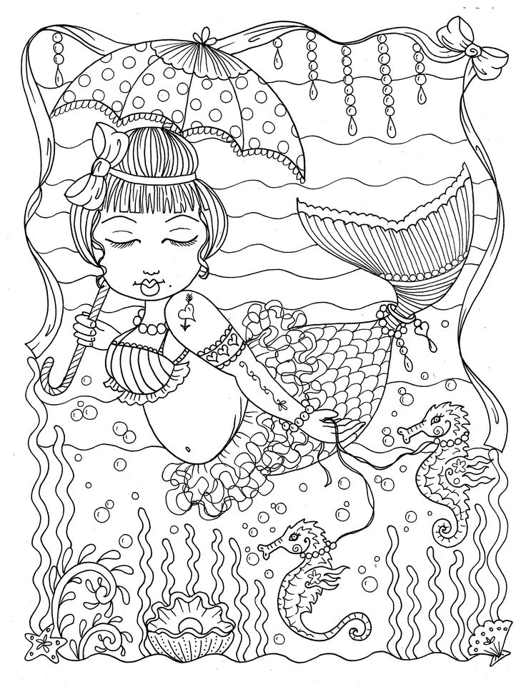 11294 best coloring images on pinterest | coloring books, adult ... - Mermaid Coloring Book