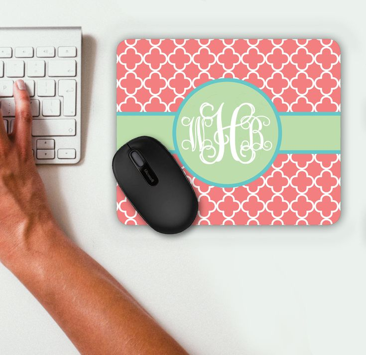 Mouse Pad Gift Ideas Personalized Mouse Pad Personalized Mousepad Monogrammed Mouse Pad Monogrammed Mousepad Custom Mouse Pad Custom by ChicMonogram on Etsy