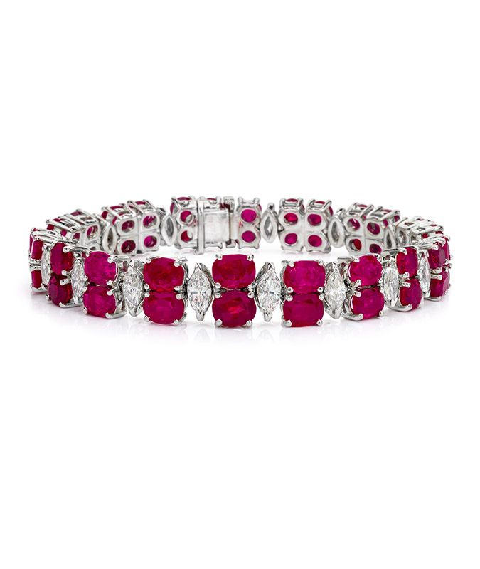 Burmese Ruby and Diamond Bracelet