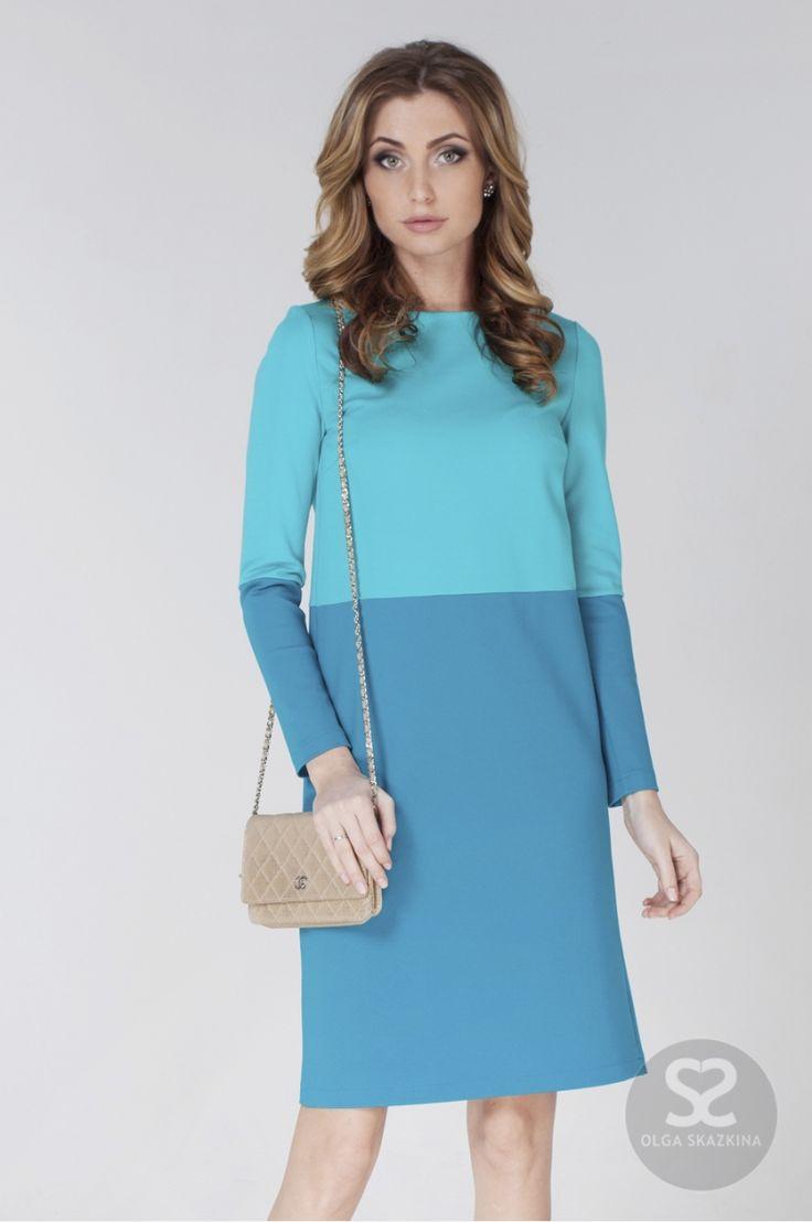 Сшить короткое прямое платье с рукавом