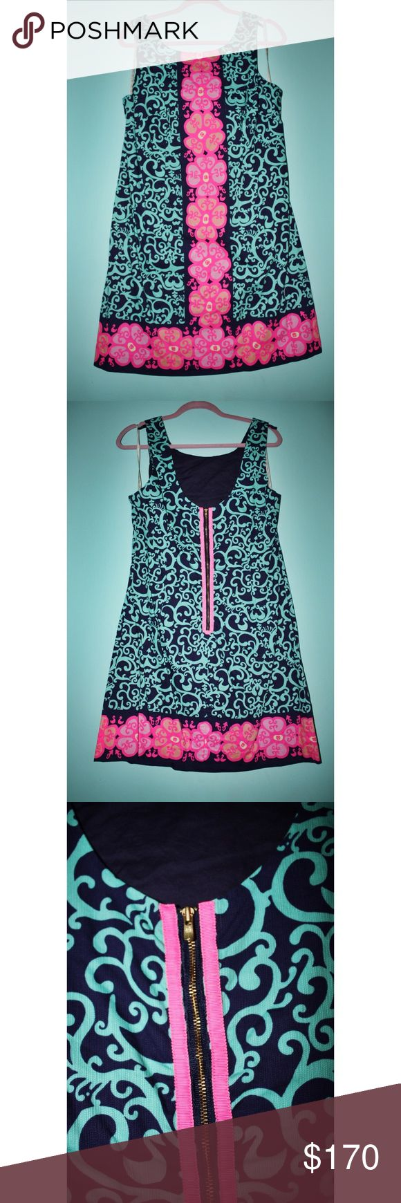 Lilly Pulitzer fluorescent Delia dress Only worn a handful of times! So beautiful but it's too short on me now. Lilly Pulitzer Dresses Mini