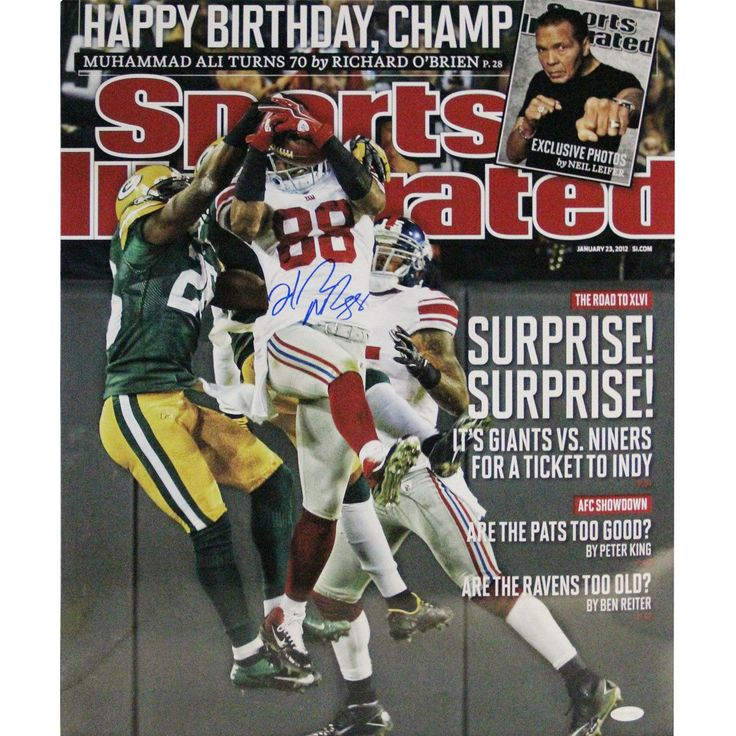 Hakeem Nicks Signed 'Surprise! Surprise!' Sports Illustrated Cover 16x20 Photo