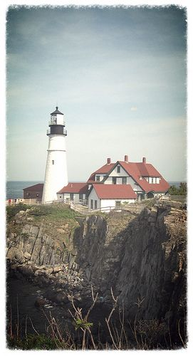Portland Head Light, Portland Maine - reputed to be the most photographed and painted light in the US because it so close to Portland Maine