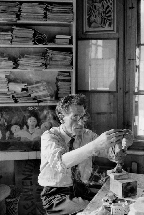 Henri Cartier-Bresson: Alberto Giacometti, Stampa, Switzerland, 1960.