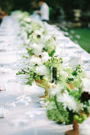 Studio a q un mariage champetre chic en vert et blanc a for Decoration table champetre
