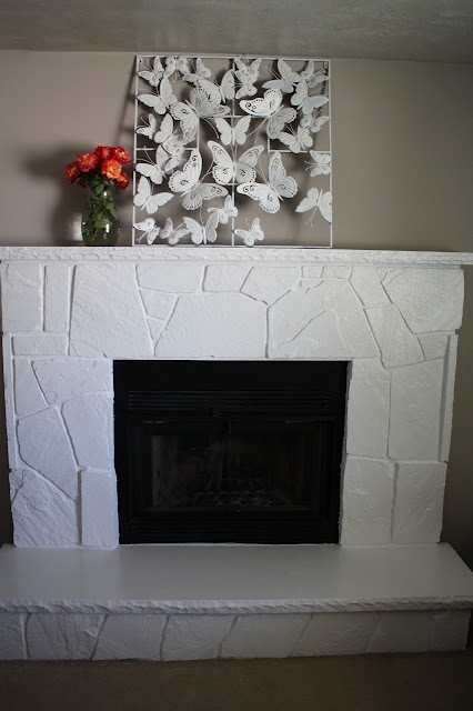 25 Best Ideas About Painted Stone Fireplace On Pinterest Painted Rock Fireplaces Cow Hide