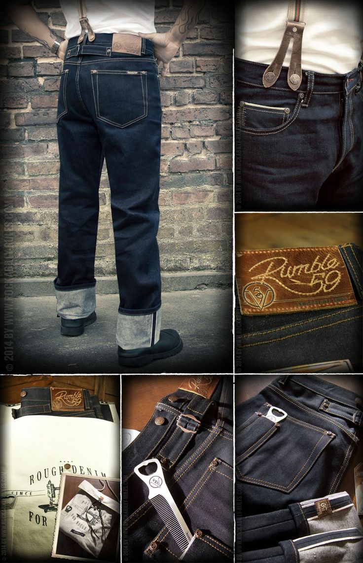 Rumble59 - Raw Selvage Denim - Greasers Gold Limited - Rockabilly-Rules.com /// #Denim #Selvage