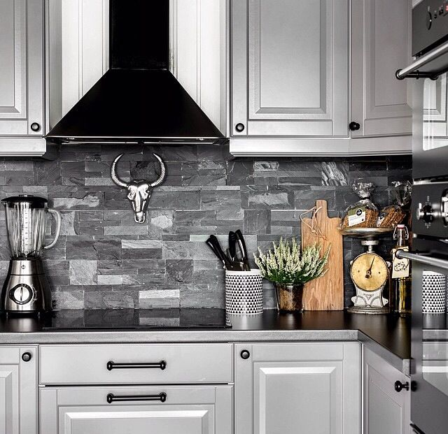 These slate tiles are beautiful as a splash back