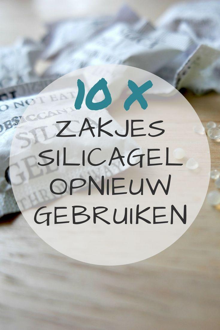 De meeste mensen gooien ze direct weg, maar ik deel 10 handige tips om zakjes silica gel nog een keer te gebruiken in huis. Ontzettend handig vanwege de vocht absorberende eigenschappen!