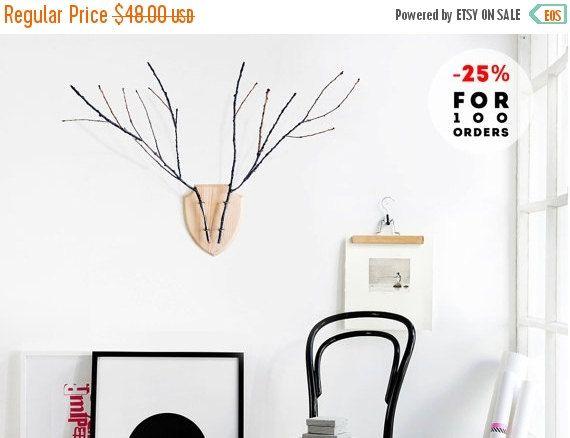 Deer Head Decor, Rustic Home Decor, Wall Decor, Deer Flower vase
